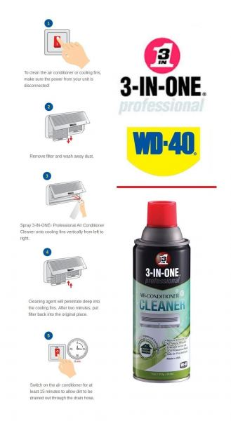 WD40 3-IN-ONE® PROFESSIONAL AIR CONDITIONER CLEANER 11OZ Cleaners & Lubricants Building and Household Maintenance Solution Ampang, Selangor, Malaysia Supply, Supplier, Suppliers | Hst Solutions Sdn Bhd