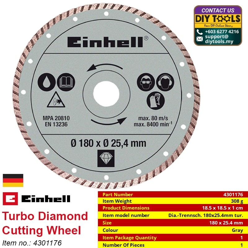 EINHELL Turbo Diamond Cutting Wheel 4301176