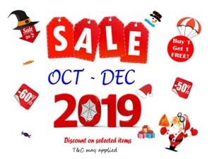 Promotion Oct - Dec 2019