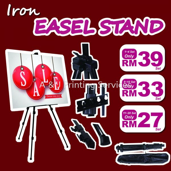 Iron Easel Stand Easel Stand Display Stand Selangor, Malaysia, Kuala Lumpur (KL), Seri Kembangan Supplier, Suppliers, Supply, Supplies | A & J Printing Services