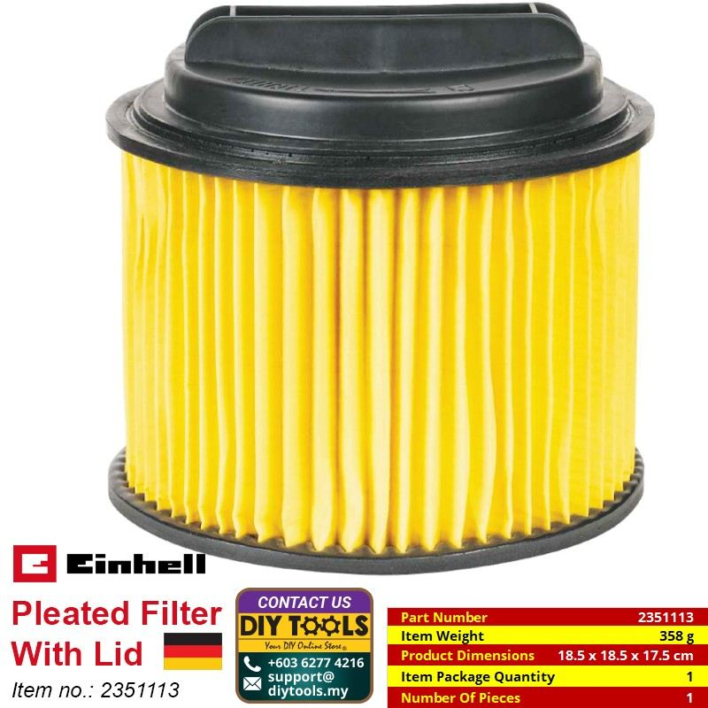 EINHELL Pleated Filter With Lid 2351113