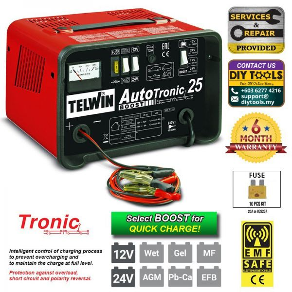 TELWIN Battery Charger Autotronic 25 Boost Battery Charger Automotive Kuala Lumpur (KL), Malaysia, Selangor, Kepong Supplier, Suppliers, Supply, Supplies   HHM Machinery & Instruments Sdn Bhd