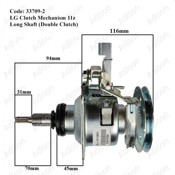 Code: 33709-2 LG 11z 10kg Long Shaft Double Clutch Mechanism Clutch Mechanism Washing Machine Parts Melaka, Malaysia Supplier, Wholesaler, Supply, Supplies | Adison Component Sdn Bhd