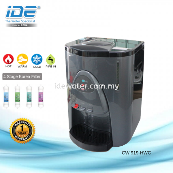 CW-919 Hot/Warm/Cold Water Dispenser Direct Piping Dispenser Water Dispensers Johor Bahru (JB), Skudai, Malaysia. Suppliers, Supplier, Rental, Supply | IDE Water Industry Sdn Bhd