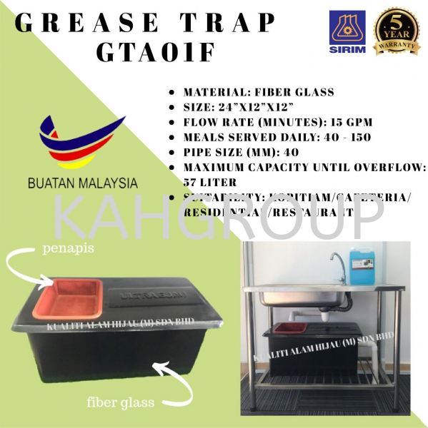 Grease Trap GTA01F Limited Times Offer For Online Buyer Selangor, Malaysia, Kuala Lumpur (KL), Johor Bahru (JB), Penang, Perak Supplier, Suppliers, Supply, Supplies | Kualiti Alam Hijau (M) Sdn Bhd