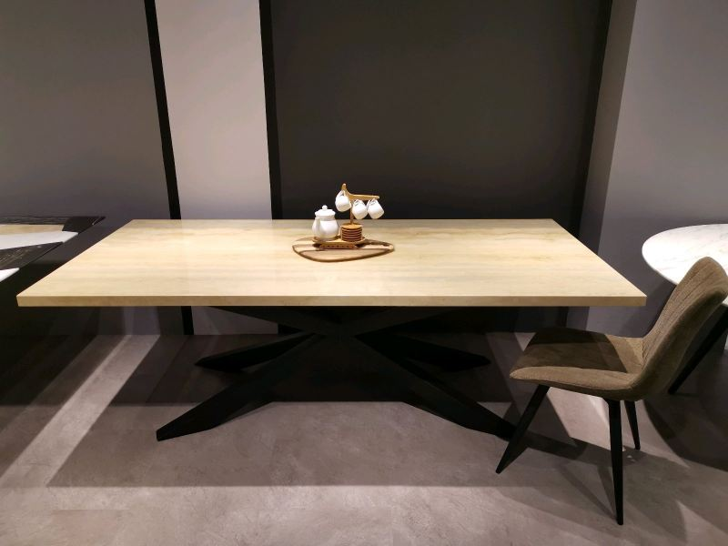 8 Seater - Modern Beige Marble Dining Table Set With Chairs Marble Dining Table Clearance Item Selangor, Kuala Lumpur (KL), Malaysia Supplier, Suppliers, Supply, Supplies | DeCasa Marble Sdn Bhd