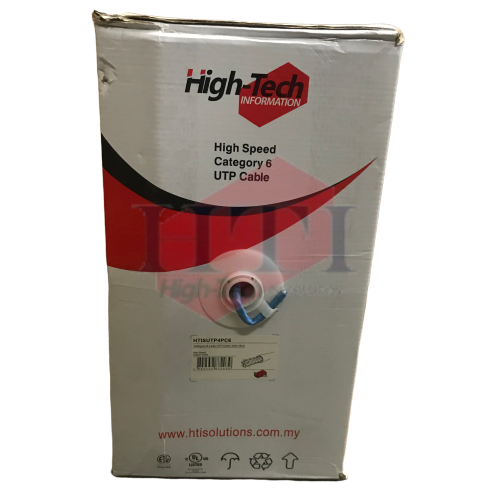 HIGH-TECH CAT6 4PAIR UTP CABLE 305M Network/ LAN Cable Networking Products Johor Bahru (JB), Malaysia Suppliers, Supplies, Supplier, Supply | HTI SOLUTIONS SDN BHD
