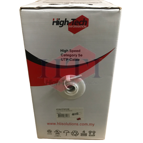 HIGH TECH CAT5E 4PAIR UTP CABLE 305M  Network/ LAN Cable Networking Products Johor Bahru (JB), Malaysia Suppliers, Supplies, Supplier, Supply | HTI SOLUTIONS SDN BHD