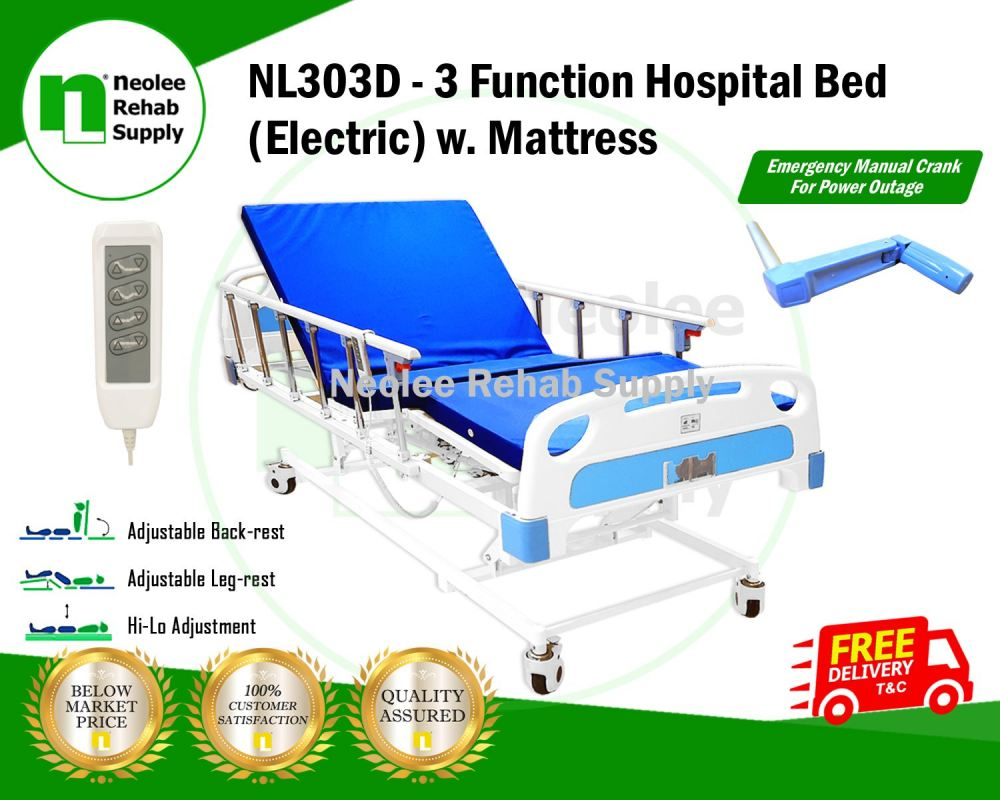 NL303D Hospital Bed 3 Functions (Electric Powered)