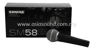 Shure SM58 (Original) Shure Kuala Lumpur (KL), Selangor, Malaysia, Cheras, Petaling Jaya (PJ) Supplier, Supply, Importer, Distributor | Asia Sound Equipment (M) Sdn Bhd