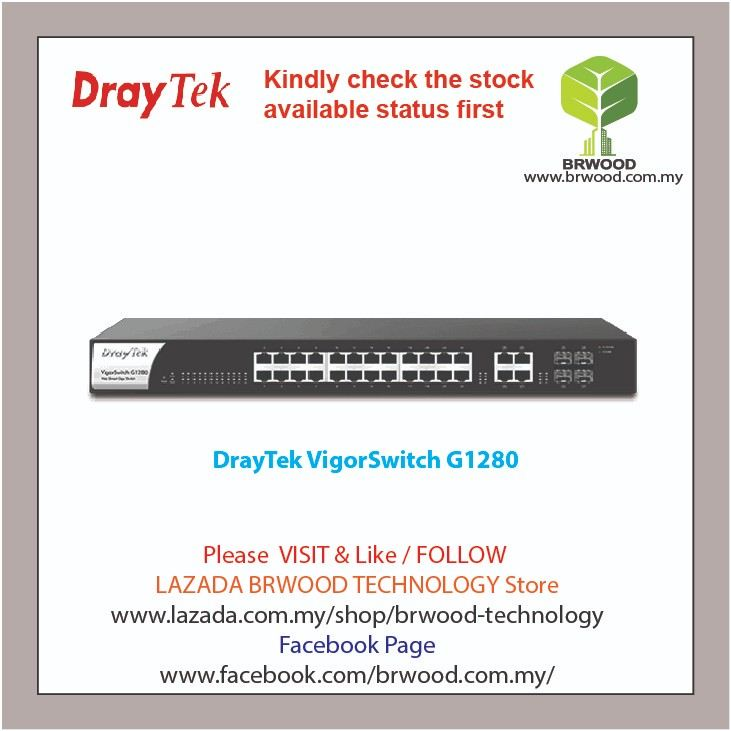 DrayTek VigorSwitch G1280: 28-Port Web Smart Managed Gigabit Switch