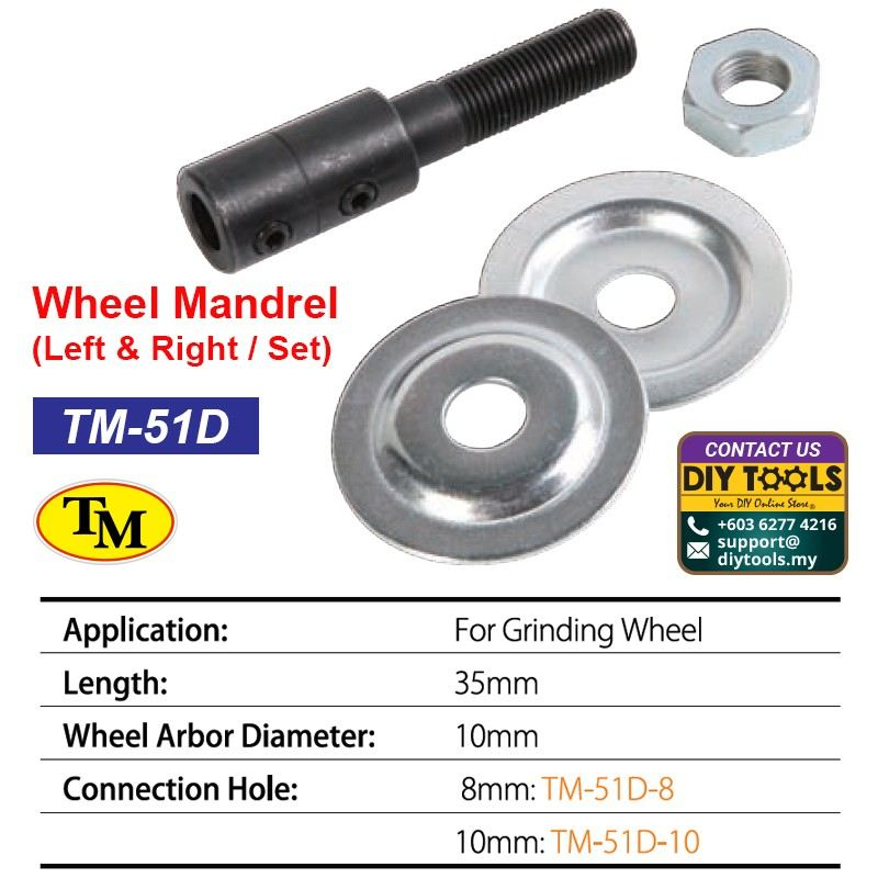 TM Wheel Mandrel-Left & Right / Set TM-51D