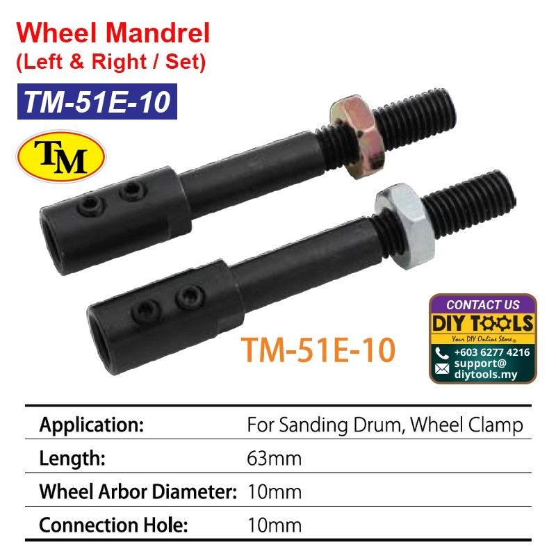 TM Wheel Mandrel-Left & Right / Set TM-51E-10
