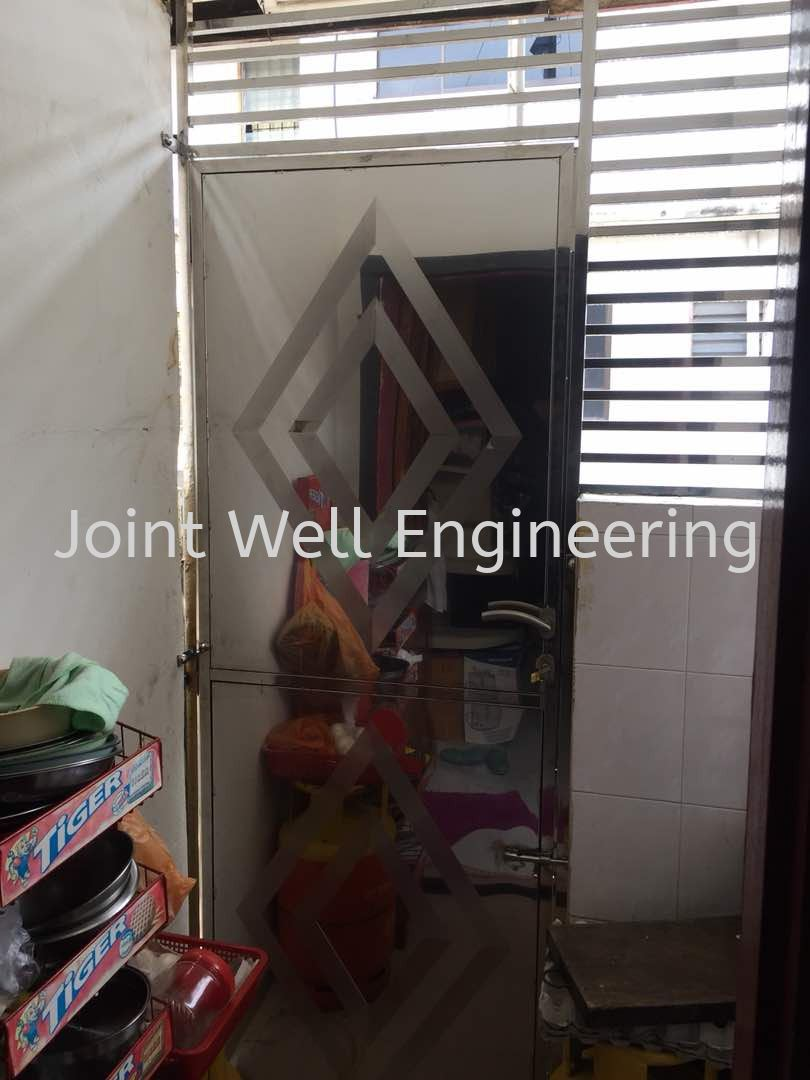 Stainless Steel Window Grille Design Window Set With Safety Door Stainless Steel Window Grill Johor Bahru (JB), Johor Installation, Supplier, Supplies, Supply | Joint Well Engineering