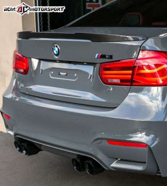 BMW F30 M4 Carbon fiber Trunk Spoiler 3 Series F30 BMW Balakong, Selangor, Kuala Lumpur, KL, Malaysia. Body Kits, Accessories, Supplier, Supply | ACM Motorsport