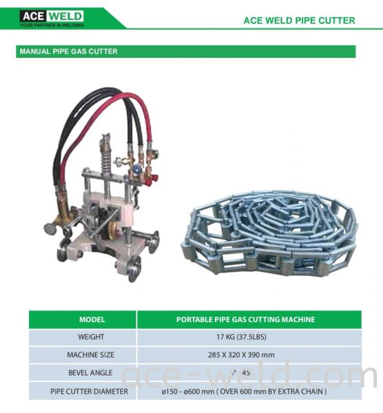 ACEWELD MANUAL PIPE GAS CUTTER ACEWELD MANUAL PIPE GAS CUTTER Gas Equipments Selangor, Malaysia, Kuala Lumpur (KL), Puchong Supplier, Suppliers, Supply, Supplies | ACE Weld Sdn Bhd