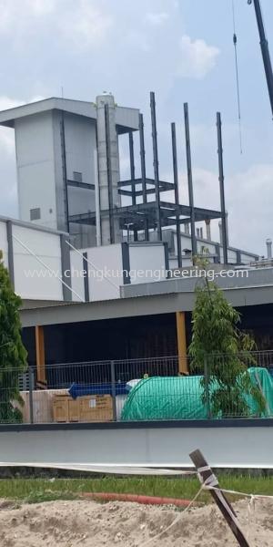 JB Cocoa Butter Tower (PTP) Structure Steel Works Selangor, Malaysia, Kuala Lumpur (KL), Kajang Fabrication, Service | Kejuruteraan Cheng Kung Sdn Bhd