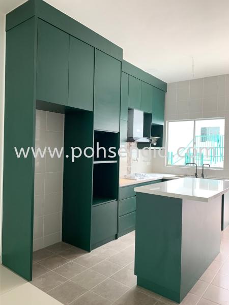 Solid Plywood Laminated Kitchen Cabinet #Rimbun Harmoni Kitchen Seremban, Negeri Sembilan (NS), Malaysia Renovation, Service, Interior Design, Supplier, Supply | Poh Seng Furniture & Interior Design