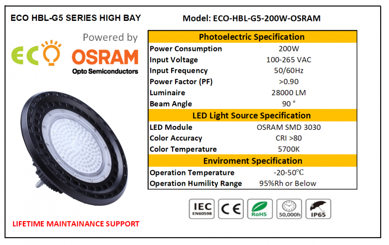 ECO LED HIGH BAY G5 SERIES-200W ECO HIGH BAY G5 SERIES Kluang, Johor, Malaysia Supplier Supply Manufacturer | ECO LED Lighting Solution