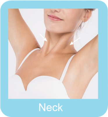 Permanent hair removal neck