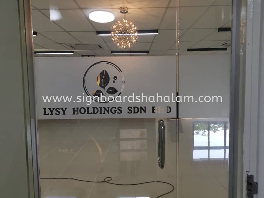 LYSY Holdings Sdn Bhd - Glass Frosted Sticker