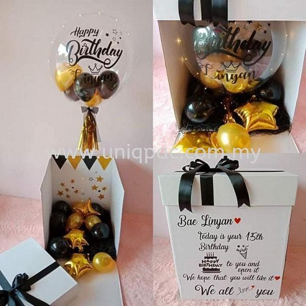 Balloon Surprise Box Surprise Balloon Gift Box Corrugated Box Selangor, Malaysia, Kuala Lumpur (KL), Shah Alam Supplier, Suppliers, Supply, Supplies   UNIQPAC PACKAGING ENTERPRISE