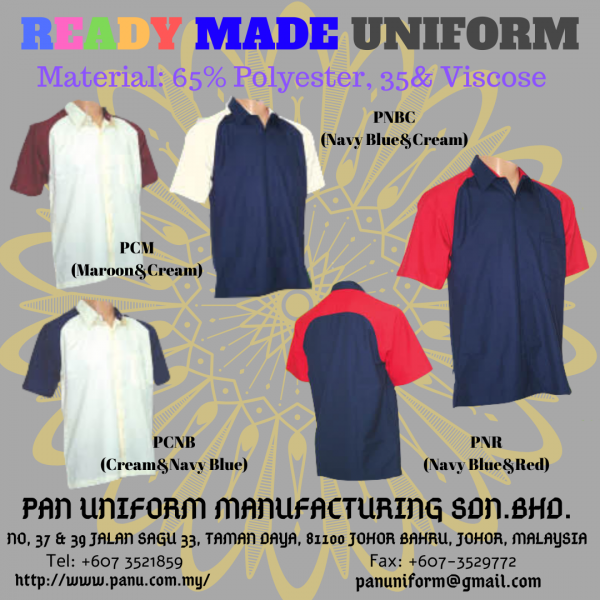 ready made Others Johor Bahru JB Malaysia Uniforms Manufacturer, Design & Supplier | Pan Uniform Manufacturing Sdn Bhd