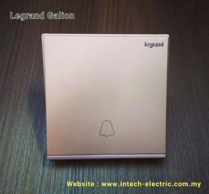 LEGRAND GALION 282411-C2 1GANG BELL SWITCH - CHAMPAGNE£¨SILVER BAR£©