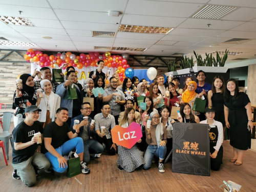 Collaborate Milk Tea Brand of Black Whale with Lazada