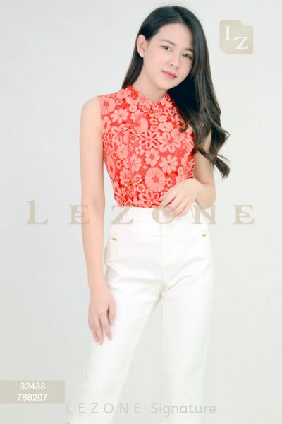 32438 Floral Lace Sleeveless Blouse 无袖单衣  新款单衣    | LE ZONE Signature