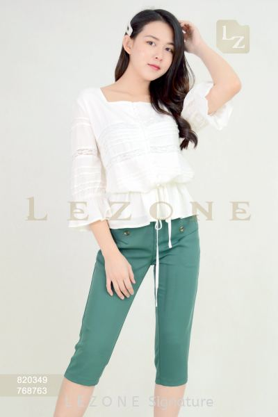 768763 BUTTON DETAIL 3/4 PANTS ¡¾2ND 50%¡¿ Bottoms On Sale S A L E  Selangor, Kuala Lumpur (KL), Malaysia, Serdang, Puchong Supplier, Suppliers, Supply, Supplies | LE ZONE Signature