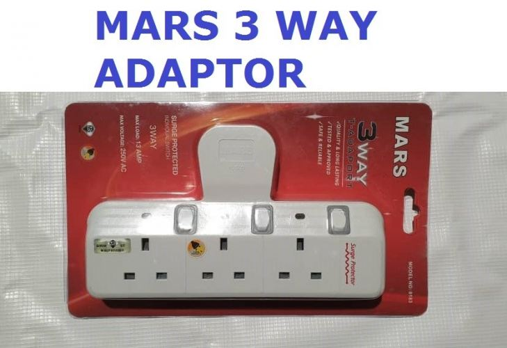MARS 3 GANG ADAPORT 13A PLUG IN