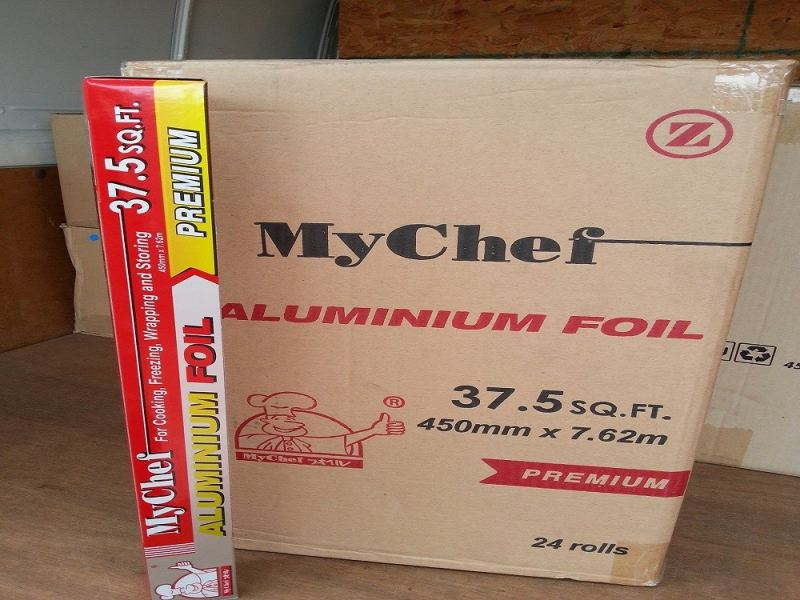 MyChef A.Foil 37.5 SQF 450mm x 7.62m x 24 rolls ALUMINIUM FOIL ALUMINIUM FOIL AND FOOD WRAPPING Kuala Lumpur (KL), Malaysia, Selangor, Kepong Supplier, Suppliers, Supply, Supplies | RS Peck Trading