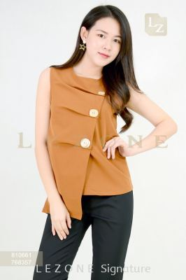 810661 BUTTON DETAIL SLEEVELESS BLOUSE ��1st 10% 2nd 20% 3rd 30%��