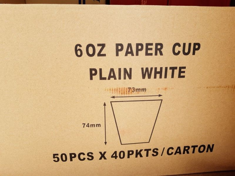 6OZ PAPER CUPS MOQ 2000PCS/CTN PAPER CUPS PAPER PRODUCTS Kuala Lumpur (KL), Malaysia, Selangor, Kepong Supplier, Suppliers, Supply, Supplies   RS Peck Trading