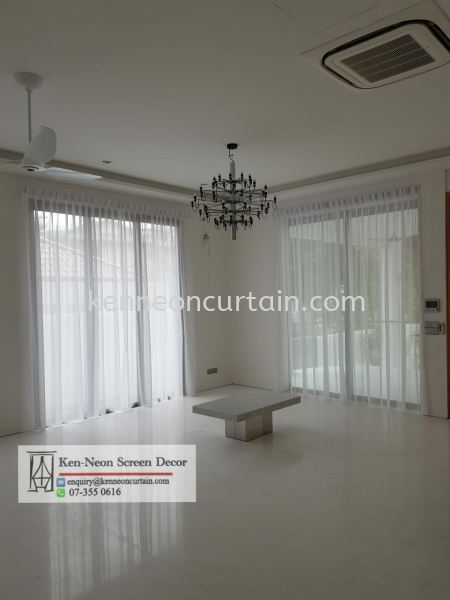 Lace Curtain Design and installation  Layer Sheers Curtain Design Johor Bahru (JB), Malaysia, Taman Molek Supplier, Installation, Supply, Supplies | Ken-Neon Screen Decor