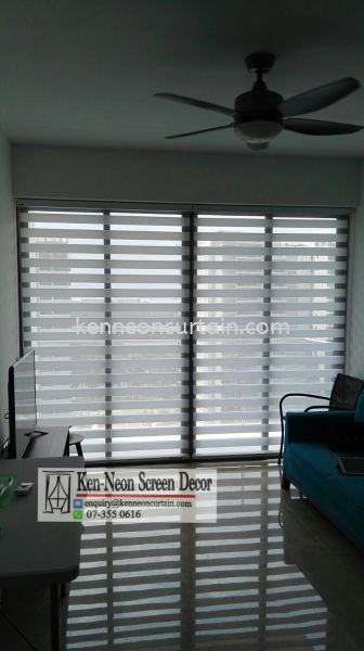 ZB 01 Zebra Blinds supply and Installation Service Zebra Blinds Johor Bahru (JB), Malaysia, Taman Molek Supplier, Installation, Supply, Supplies | Ken-Neon Screen Decor