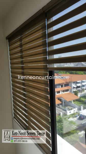 ZB 08 zebra blinds Installation in Office  Zebra Blinds Johor Bahru (JB), Malaysia, Taman Molek Supplier, Installation, Supply, Supplies | Ken-Neon Screen Decor