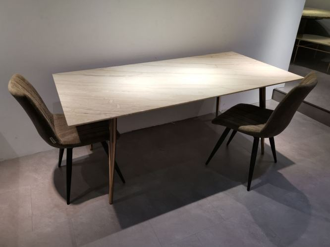 Modern Marble Dining Table For 6 Seater - Stain Resistant