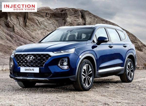 HYUNDAI SANTAFE 19Y-ABOVE (7 SEATER - LONG WHEEL BASE) = INJECTION DOOR VISOR WITH STAINLESS STEEL LINING HYUNDAI INJECTION Malaysia, Selangor, Kuala Lumpur (KL), Semenyih Manufacturer, Supplier, Supply, Supplies | Venttec Supply (M) Sdn Bhd