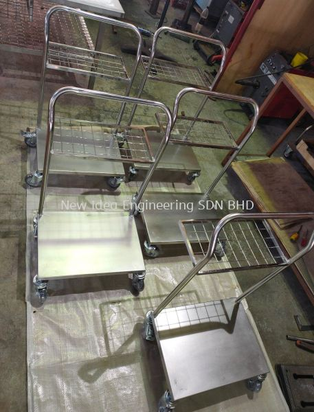 customize stainless steel production trolley TROLLEY  Penang, Malaysia, Bukit Mertajam Supplier, Suppliers, Supply, Supplies   New Idea Engineering Sdn Bhd