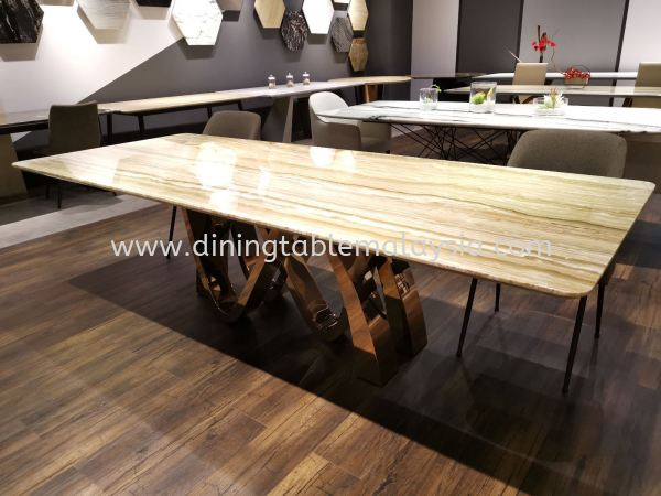 Modern Marble Dining Table Design With Natural Marble  Marble Dining Table Malaysia, Selangor, Kuala Lumpur (KL), Petaling Jaya (PJ) Supplier, Suppliers, Supply, Supplies | DeCasa Marble Sdn Bhd