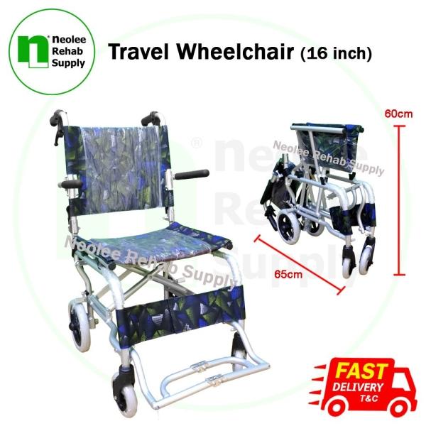NL9003L-42 Travel Wheelchair (16 inch) Transit Travel Wheelchairs Wheelchairs Kuala Lumpur, KL, Cheras, Selangor, Malaysia. Supplier, Suppliers, Supplies, Supply | Neolee Rehab Supply Sdn Bhd