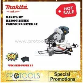 "Makita MT M2300G 1500W 10"" (255mm) Compound Miter Saw FOC SANDPAPER (1 YEAR WARRANTY)"