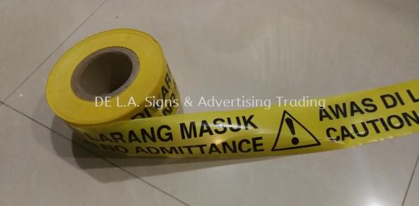 warning safety hazard tape Safety Hazard Tape Kuala Lumpur (KL), Malaysia, Selangor, Perindustrian KIP Manufacturer, Supplier, Supply, Supplies   DE L.A. Signs & Advertising Trading