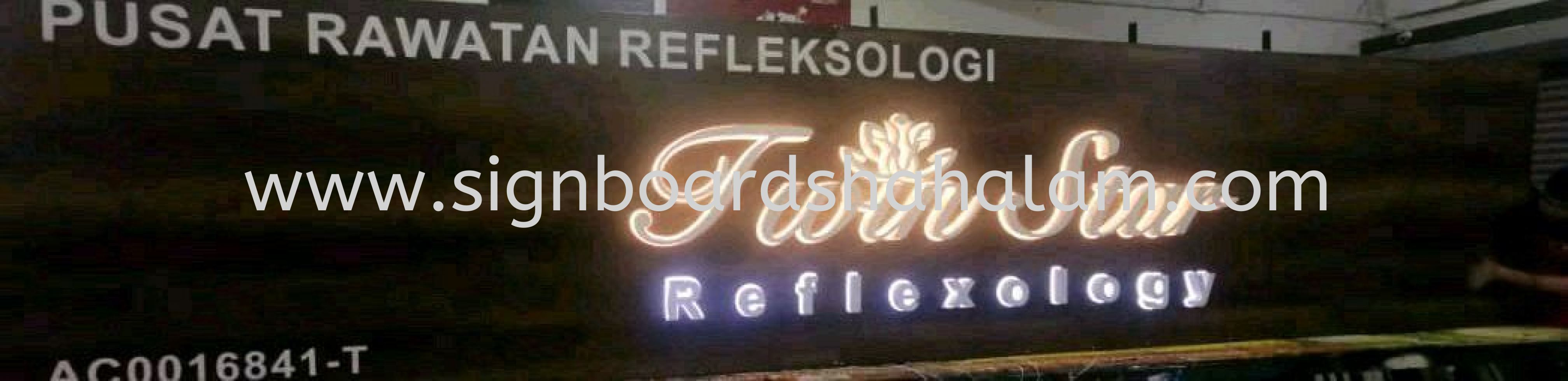 Twin Star Reflexology Signage, Signboard