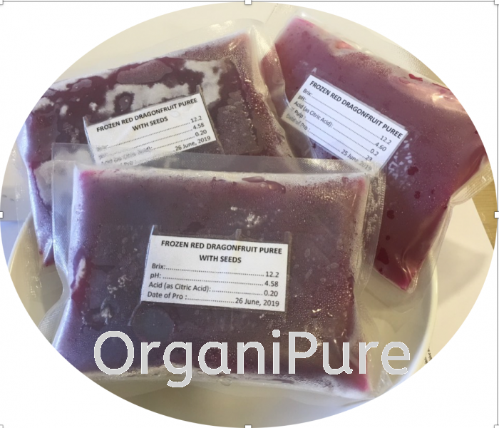 FROZEN RED DRAGON FRUIT PUREE JUICES AND PUREE NON-ORGANIC FOOD PRODUCTS Selangor, Malaysia, Kuala Lumpur (KL), Shah Alam Supplier, Suppliers, Supply, Supplies | Organipure Sdn Bhd
