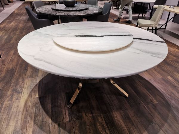 White Marble Dining Table - Panda White Marble  Marble Dining Table Selangor, Kuala Lumpur (KL), Malaysia Supplier, Suppliers, Supply, Supplies | DeCasa Marble Sdn Bhd