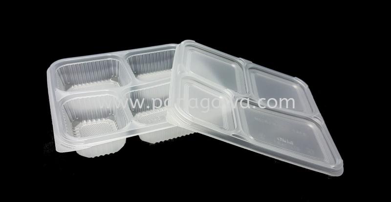 PP-OKID-TB4C/LID Plastic Takeaway Bento Box Plastic Products Johor Bahru (JB), Malaysia. Manufacturer, Supplier, Supplies, Supply   Panagawa Sdn. Bhd.