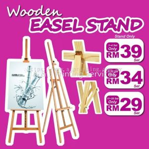 Special Offer Wooden Easel Stand RM 29 only MOQ : 1PC